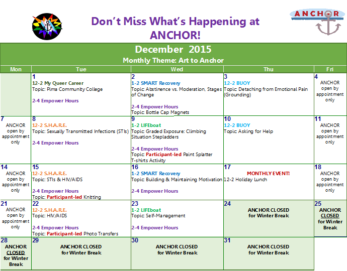 December calendar 2015