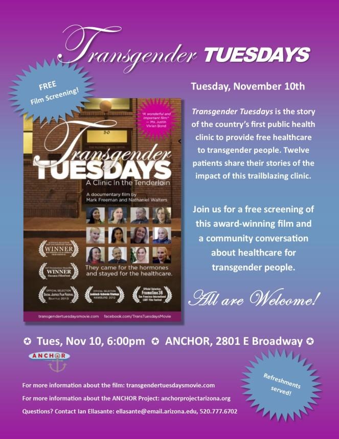 Transgender Tuesdays Event